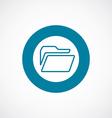folder icon bold blue circle border vector image vector image