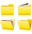 Folder set vector image vector image