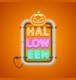 halloween neon sign orange vector image