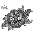 hand drawn tribal element in Indian mehndi vector image