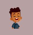 happy african boy laughing cartoon