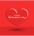 happy valentine is day text greeting card mockup vector image vector image