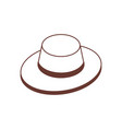 isometric tourist safari hat icon vector image