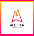letter a arrow up logo vector image