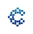 letter c pixel logo alphabet logotype design vector image vector image