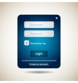 Login form ui grunge blue element vector image