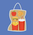 lunchbox with apple vector image