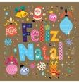 Merry Christmas Feliz Natal - portugues vector image vector image
