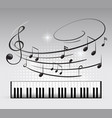 music keyboard and note vector image