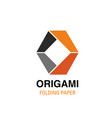 o letter icon for origami studio vector image