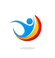 people happy sport logo vector image vector image