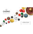 realistic casino elements concept vector image vector image