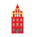 red european style classic building facade vector image vector image