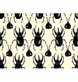 Repeating pattern made of sketched bugs vector image vector image