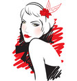retro women vector image