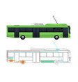 scheme of the electric bus vector image vector image