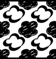 seamless drawn cloud pattern brush painted clouds vector image vector image