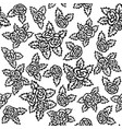 seamless pattern with bouquets of roses on a white vector image vector image