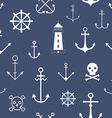 Seamless pattern with nautical symbols vector image vector image