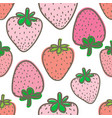 seamless pattern with strawberry background vector image vector image