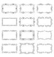 set of twelve decorative vintage horizontal frames vector image