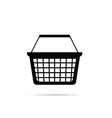 shopping basket in black vector image
