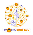 smile day white background vector image vector image