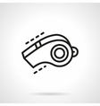 Sport whistle simple line icon vector image vector image