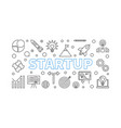 startup horizontal start-up vector image vector image