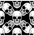 tattoo skull seamless pattern vector image vector image