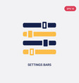 two color settings bars icon from ultimate vector image vector image