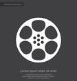 video film premium icon white on dark background vector image