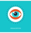 Visualization vector image vector image