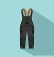 work pants icon flat style vector image vector image