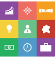 business icon set flat design vector image