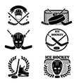 Ice hockey emblem and logo set vector image
