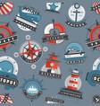 nautical templates marine sea logo badges anchor vector image