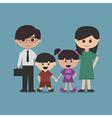 happy family cartoon character vector image