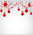 Merry Christmas greeting card with bauble Template vector image