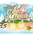Hello Summer Hand Lettering Summer Vacation vector image