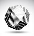 Abstract 3D polygonal contrast figure art vector image