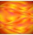 Abstract red and yellow waves vector image vector image