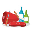 bbq food and drinks vector image