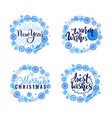 best wishes merry warm christmas winter holidays vector image vector image