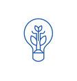 bio technology line icon concept bio technology vector image vector image