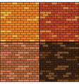 brick wall background set vector image