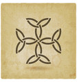 carolingian cross trinity knots celtic symbol vector image vector image