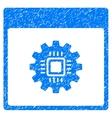 Chip Gear Calendar Page Grainy Texture Icon vector image vector image
