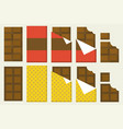 chocolate bar icon set vector image