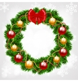 Christmas fir-tree wreath vector image
